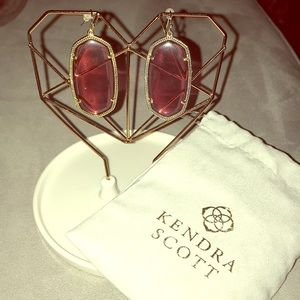 KS - Danielle Statement Earrings I'm Berry Glass